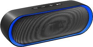 Bluetooth Lautsprecher, Bluetooth 5.0 Lautsprecher,24 Stdn Spielzeit,10W Dual Treiber Tragbarer Lautsprecher,IPX5 Wasserdichter Außen Lautsprecher,Musikbox Eingebautes Mikrofon,TF Karte