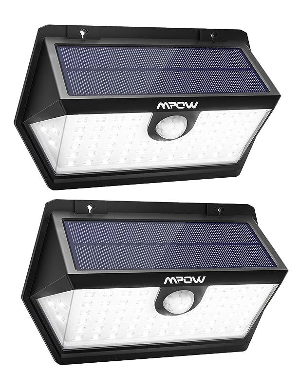再び多年生レビューMpow 63led センサーライト ソーラーライト IP65防水 3つ点灯モード 屋外照明 センサー時間30s 人感ライト 18ヶ月間保証 停電緊急対策 2019年新品 2個