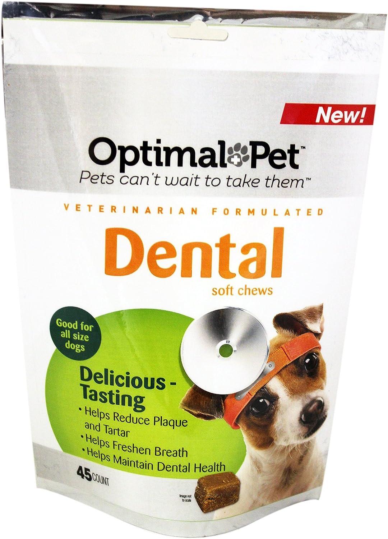 Optimal Pet Dog Dental Health Soft Chews, 4.5Ounce