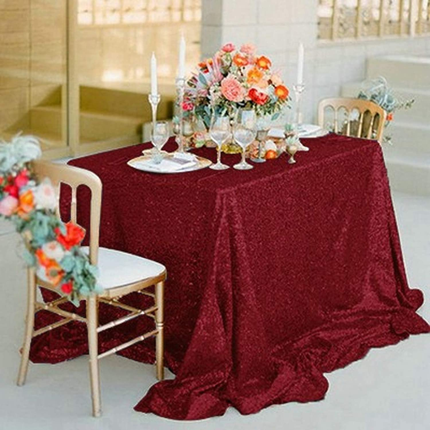 Ranking TOP11 GJWEIYI Rectangle Sequin shipfree Glitter Cloth Sparkly Table Tablecloth