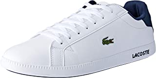 Lacoste Graduate LCR3 Men's Fashion Shoes, White/Dark Blue