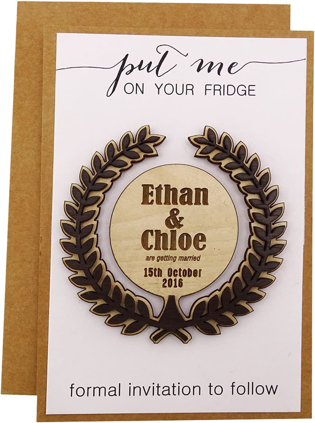 Personalized Save The Date Wooden Milwaukee Mall Clearance SALE! Limited time! Rustic Magnets Wed 20 Engraved