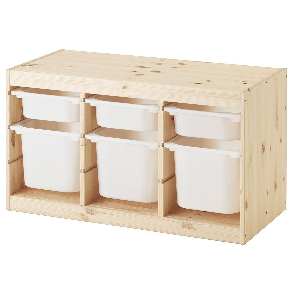 ダンプ修復珍しい【IKEA/イケア】TROFAST 収納コンビネーション, パイン材 ホワイト, ホワイト