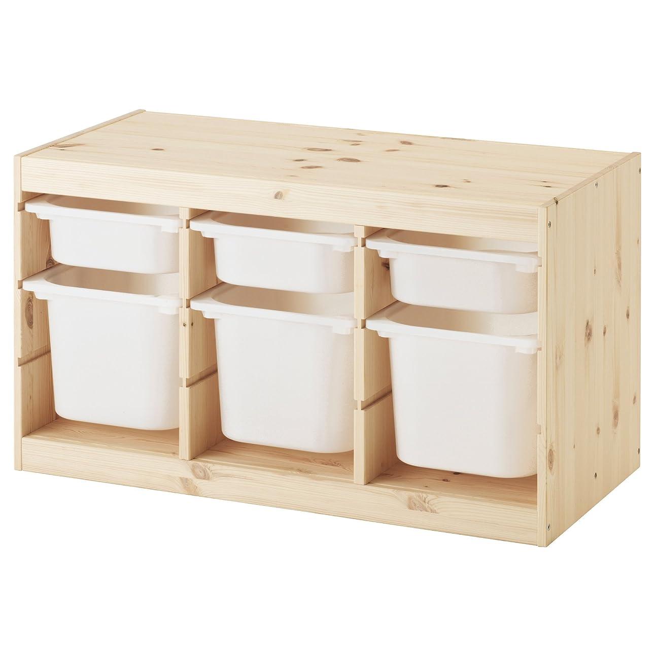 啓発するテロ肌【IKEA/イケア】TROFAST 収納コンビネーション, パイン材 ホワイト, ホワイト