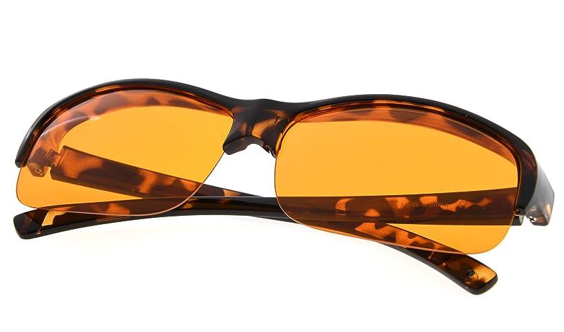 Fit over Blue Light Blocking Glasses for Better Sleep - Filters of Artificial Blue Light - Anti Eye Strain Large Lens