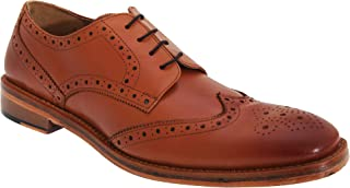 Mens All Leather Wing Cap Brogue Gibson Shoes