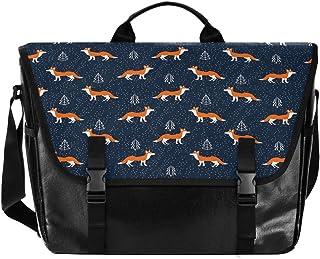 Fox - Bolso de lona para hombre, diseño de dibujos animados, color azul