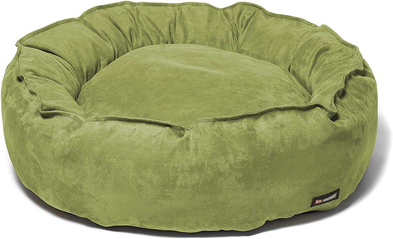 Big Shrimpy Nest Faux Suede Bed, Medium, Leaf