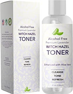 Lavender Witch Hazel Toner with Aloe Vera for Skin Face and Scalp – Alcohol Free Mild Astringent to Gently Cleanse Skin Refine Pores and Combat Acne - Anti Aging Formula – Cruelty Free by Honeydew