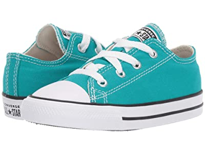 Converse Kids Chuck Taylor(r) All Star(r) Seasonal Ox (Infant/Toddler) (Turbo Green) Girls Shoes