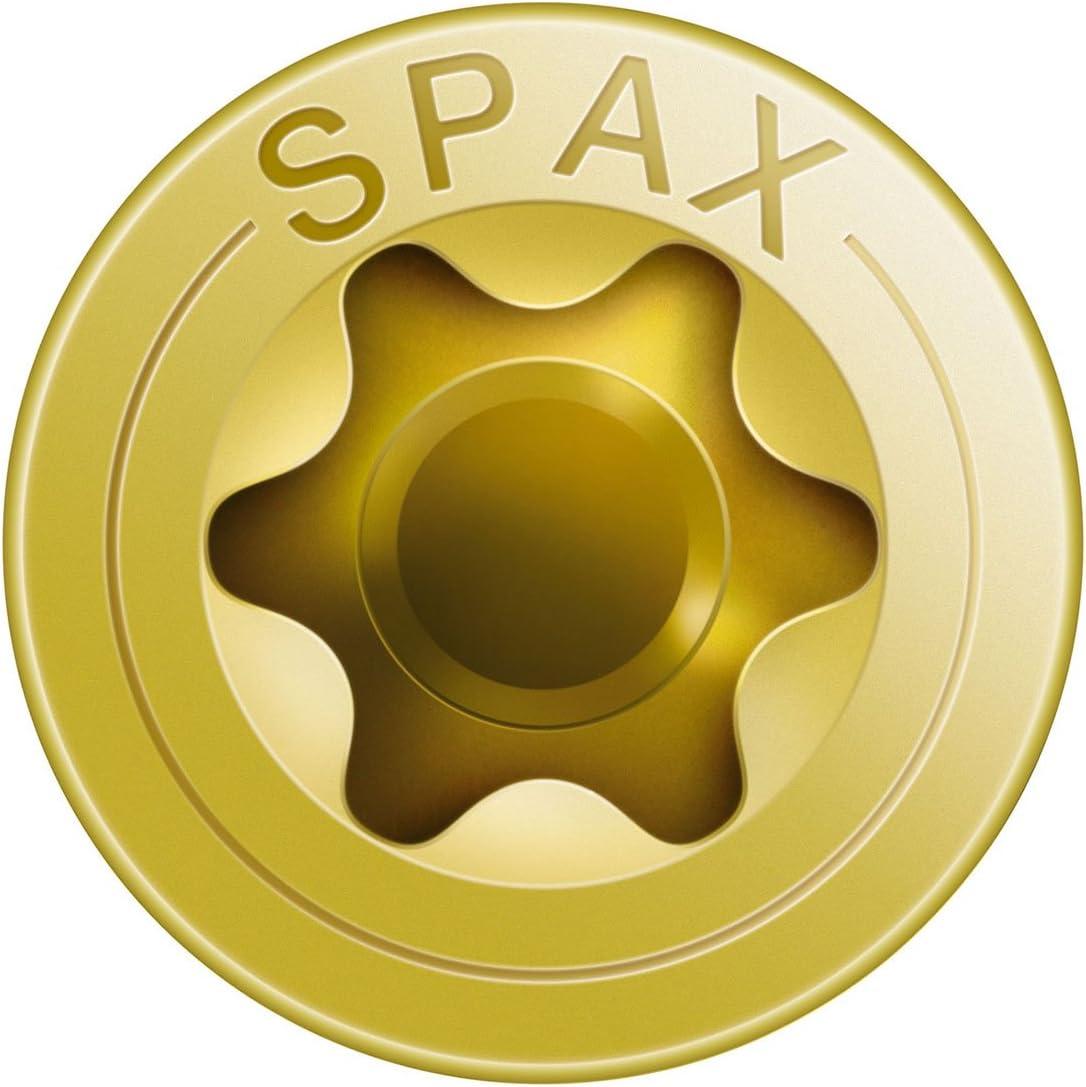 Vis universelle 191020450355 /0191020350303 T-STAR plus t/ête frais/ée filetage complet jaune galvanis/é passiv/é A2L Spax/ 4CUT