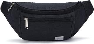 TINYAT Large Fanny Pack Travel Waist Bag Lightweight for Men&Women with Adjustable Strap T206