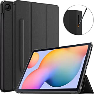 MoKo Case Compatible with Galaxy Tab S6 Lite 2020, Ultra Slim Tri-Fold Cover with Auto-Wake/Sleep & Pen Holder Fit Samsung...