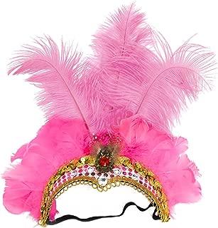 Carnival Feather Headpiece Showgirl Headband