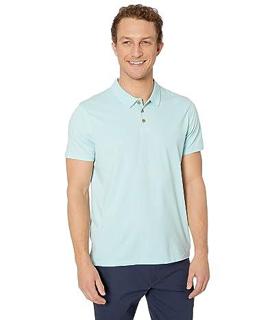 Lucky Brand Venice Burnout Pique Polo (Blue Glow) Men