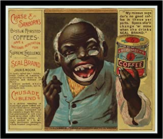 8 x 10 Photo Print Chase and Sanborn Java Coffee Vintage Advertising 1881 Vintage Old Advertising Campaign Ads