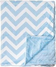 Bonne Nuit Super Soft Chevron Baby Blanket, Blue