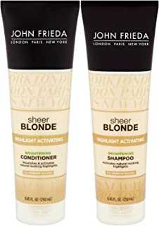 John Frieda Sheer Blonde Highlight Activating Enhancing, DUO set Shampoo + Conditioner, For Darker Blondes, 8.45 Ounce, 1 each
