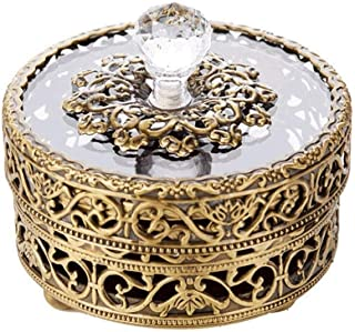 SHYPT Boîte à Bijoux -Lache de Bijoux européens Rétro Boîte à Bijoux de Haute qualité Collier de Haute qualité Bague compa...
