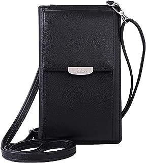 NYKKOLA Womens Wallet Bag Leather Coin Cell Phone Purse Handbag Mini Cross-body Shoulder Bag with Strap