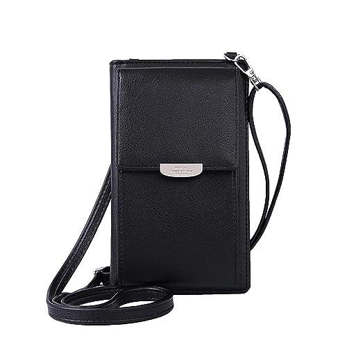 6c15f499fd NYKKOLA Womens Wallet Bag Leather Coin Cell Phone Purse Handbag Mini  Cross-body Shoulder Bag