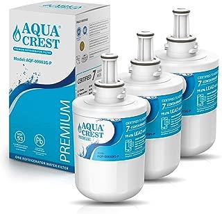 AQUACREST DA29-00003G Refrigerator Water Filter, NSF 53&42 Certified to Reduce 99% Lead, Compatible with Samsung DA29-00003G, DA29-00003B, DA29-00003A, Aqua-Pure Plus, HAFCU1 Water Filter (Pack of 3)