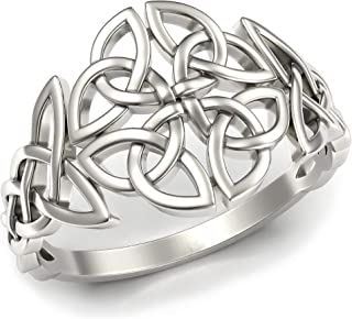 Celtic Ring Sterling Silver twist ladies girls sizes vary