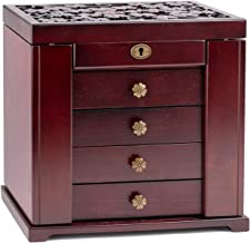 Rowling Wooden Jewelry Box Cabinet Armoire Ring Necklacel Gift Storage Box(Cherry-2)
