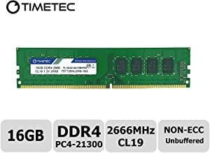 Timetec Hynix IC DDR4 2666MHz PC4-21300 Unbuffered Non-ECC 1.2V CL19 2Rx8 Dual Rank 288 Pin UDIMM Desktop Memory RAM Module Upgrade S Series (16GB)
