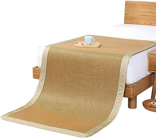 YONG FEI Bambusmatte - Faltbare Home-Rattan-Matte kühle Nicht-Eismatte - in acht Grün erh lich Sommer-Schlafmatte (Größe   135X195cm)
