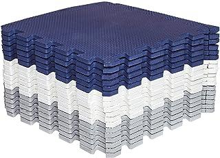 Mocosy 30 cm x 30 cm (1 x 1 tum) sammankopplade golvmattor skyddande golvmattor|Pusselmatta|Mjuk skummatta | lekmatta | gy...