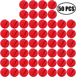 TIHOOD 50PCS Red Foam Clown Noses Novelty Foam Clown Noses for Halloween Christmas Costume Party