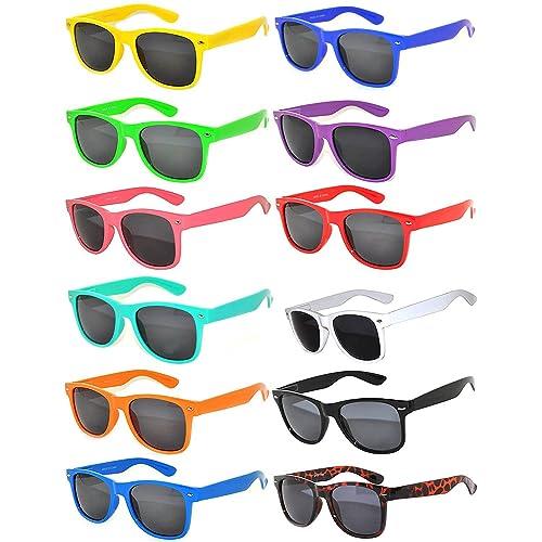 af447e262d71 Vintage Retro Eyeglasses Sunglasses Smoke Lens 10 Pack Colored Colors Frame  OWL