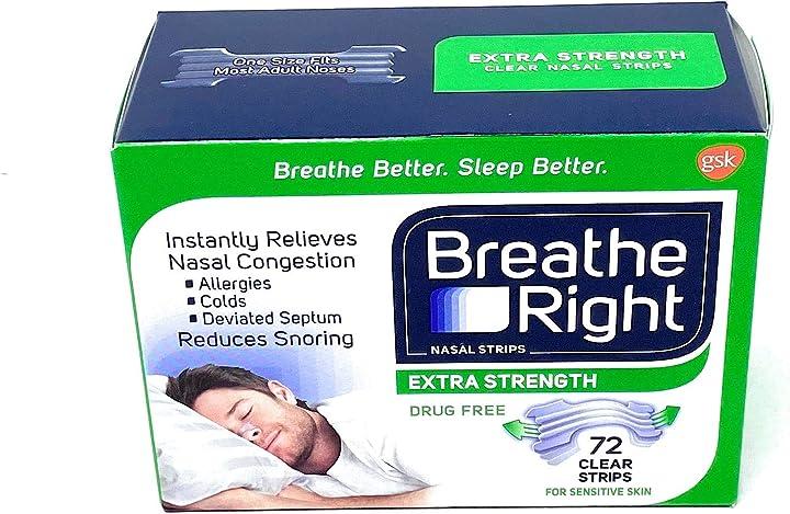Cerottino nasale breathe right extra forte nasal strips - extra strength - clear - 72 pezzi 980114709_SML