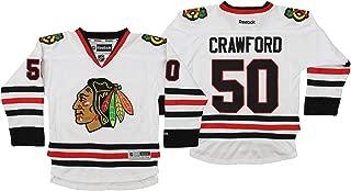 Reebok NHL Youth Boys Chicago Blackhawks Corey Crawford #50 Premium Jersey, White