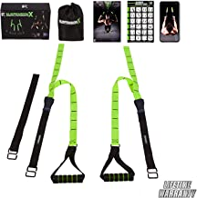 Fitness Kings Suspension X Bodyweight Resistance Suspension Straps Home Gym System - Workout Program Fitness Guide & Videos