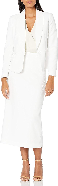 Le OFFicial site Suit Women's Diamond Jacquard 1 Sui Shawl Skirt Max 42% OFF Button Collar