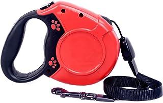 Jomiss愛犬用リード 伸縮リード 巻き取り式ドッグリード 犬用リード 自動巻き長さ8M 荷重40kg 小・中型犬対応 (レッド)