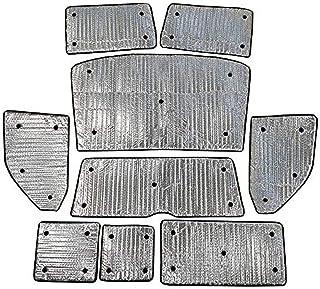 Medidas 150 x 80 cm Kit Verano BC Corona INT41118 Pack Parasol Plegable Plata y cortinillas Laterales universales