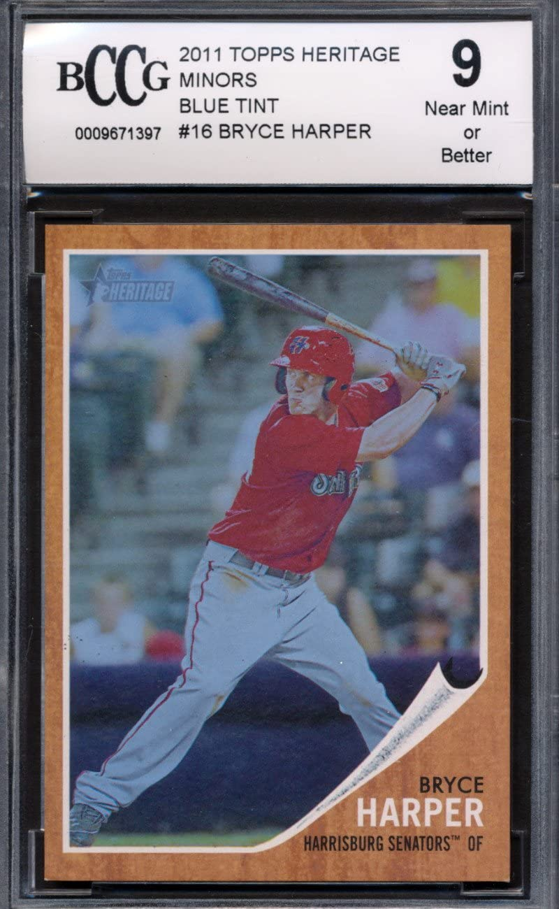2011 Topps Heritage Minors Indefinitely #16 Blue Tint Harper Bryce Rooki 620 Super beauty product restock quality top