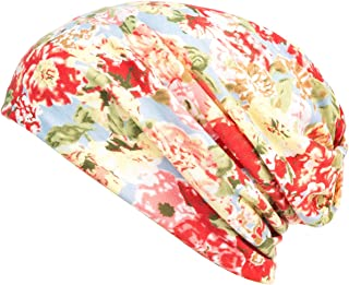 HONENNA Printed Turban Headband Chemo Cap Cotton Soft Sleep Beanie …