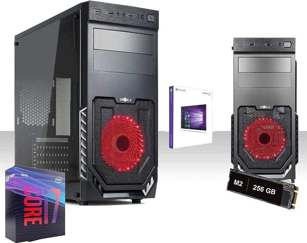 Pc fisso gaming intel i7- ssd m2 256gb ram 16gb ddr4 2666mhz windows 10pro UZ-MMML-V6T7