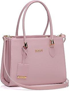 Bolsa Feminina Dhaffy Rosa, Divisórias, Alça de Mão e Transversal cor:rosa;tamanho:G