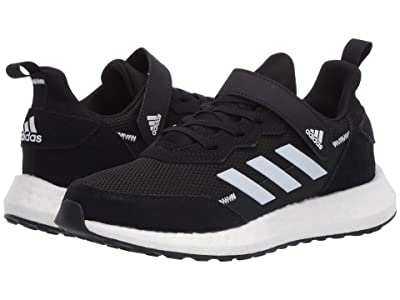 adidas Kids RapidaBoost SL EL (Little Kid) (Black/White/Grey) Boy
