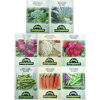 Premium Winter Vegetable Seeds Collection.Certified Organic Non-GMO Heirloom Seeds USDA Lab Tested. Broccoli, Beet, Carrot, Cauliflower, Green Bean, Kale, Pea, Radish. Gardener