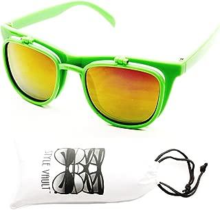 W111-vp Style Vault Flip up 80s Retro vintage Django Sunglasses glasses