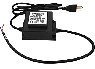 CNBRIGHTER Waterproof 12V AC Transformer 5A 60W,110V-120V AC to 12V AC LED Power Supply, Voltage Converter LED Driver,Adapter for Outdoor Landscape Lighting/Swimming Pool Light (60 Watts)