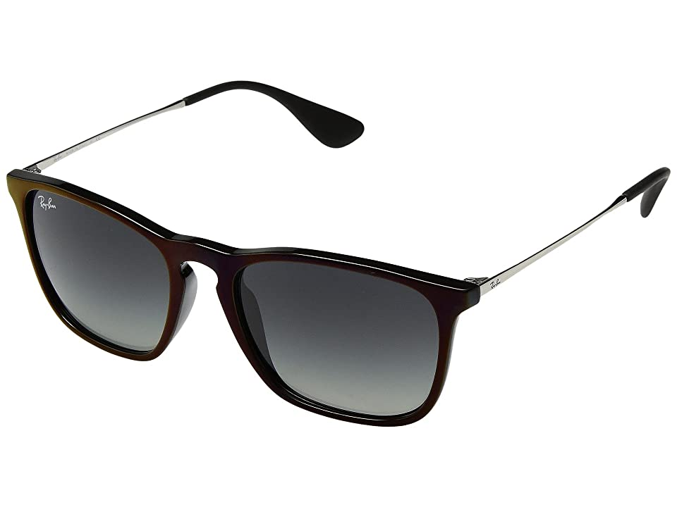 Ray-Ban Chris RB4187 54mm (Black/Red/Grey Gradient) Fashion Sunglasses