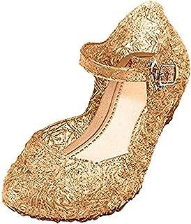 Sandalias para Niñas Disfraz Princesa Zapatos de Tacón Plástico Sandalias para Cosplay Cumpleaños Carnaval Fiesta