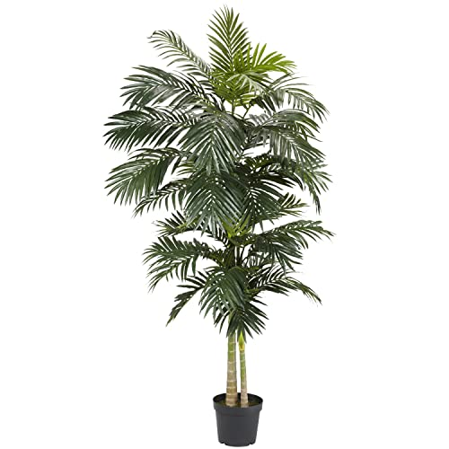 Nearly Natural 5326 Golden Cane Palm Silk Tree, 8 Feet, Green